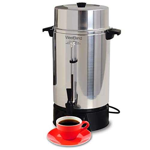 West Bend 33600 Highly Polished Aluminum Commercial Coffee