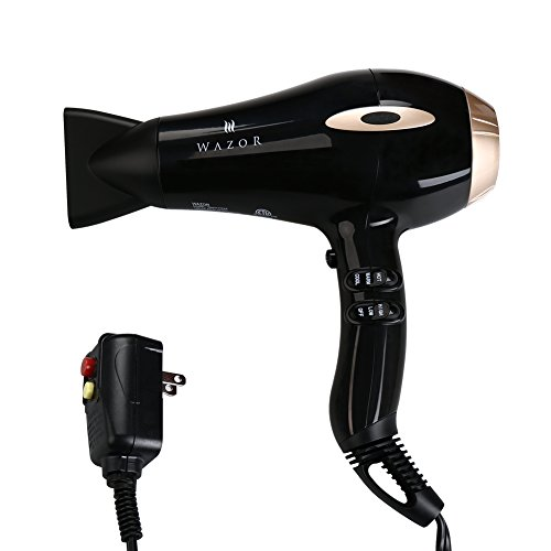 Wazor Professional Hair Dryer 1875W Negative Ionic Blow Dryer With 2 Speed and 3 Heat Settings Cool Shut Button by...