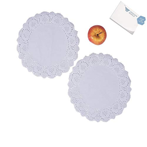 Extra Large White Doilies (With Sticky Notes)