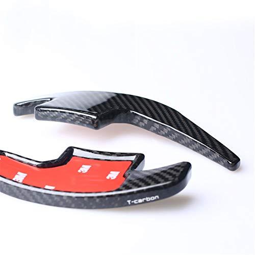 Topsmart Carbon Fiber Car Steering Wheel Shift Blade Paddle Shifter Extension For Ford Mustang (black) ()