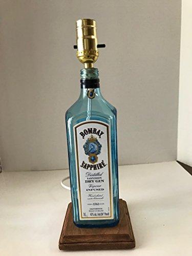 Bombay Sapphire Bottle Lamp, Dry Gin Lamp