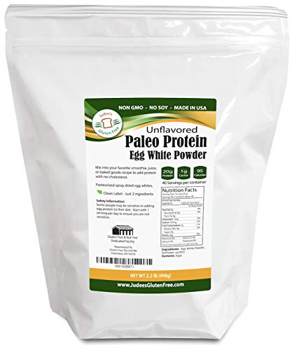 Egg White Protein Powder (2.2 LBS)(Non-GMO,Soy Free), Made in USA, Produced from the Freshest of Eggs (4 lb and 44 lb Bulk Size Options Also Available Click to ()