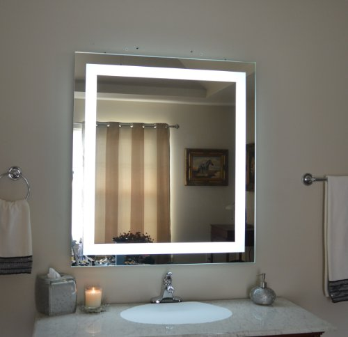 Wall Mounted Lighted Vanity Mirror LED MAM83640 Commercial Grade 36''w x 40''h by Mirrors and Marble