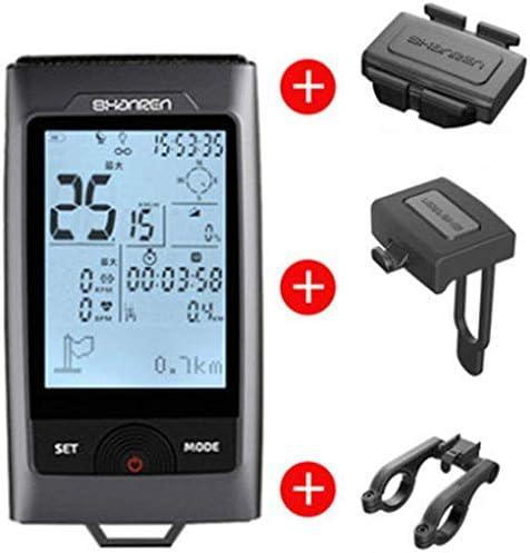 LFDHSF Ordenador para Bicicleta, cuentakilómetros GPS con Sensor ...