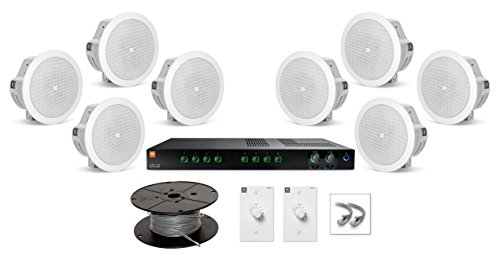 Large Restaurant Sound System with JBL Control 24CT Micro Ceiling Loudspeakers