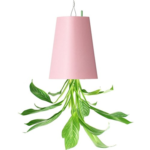 NEWCOM Upside-Down Plant Flower Pot Hanging Planter (Small, Pink)