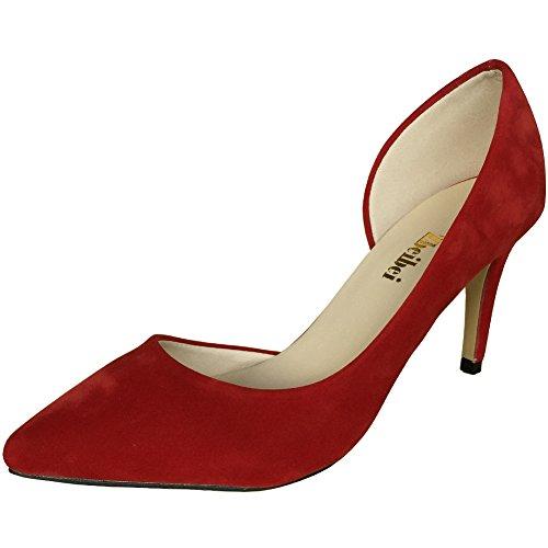 ZBeiBei - Sandalias con cuña mujer, color Rojo, talla 35
