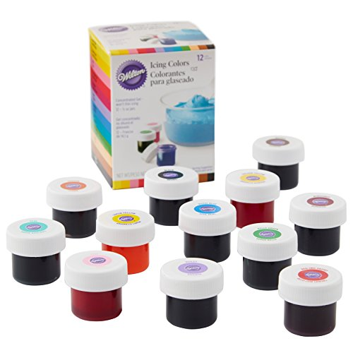 Wilton Icing Colors, 12-Count Gel-Based Food Color (Tree Drop Gum)