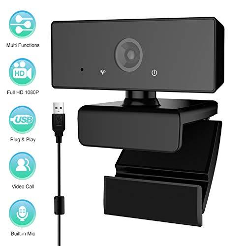 🥇 USB Cámara Web 1080P con Micrófono