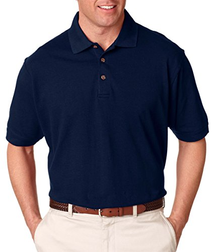 UltraClub Mens Classic Pique Polo 8535 - - Pique Classic Polo Adult