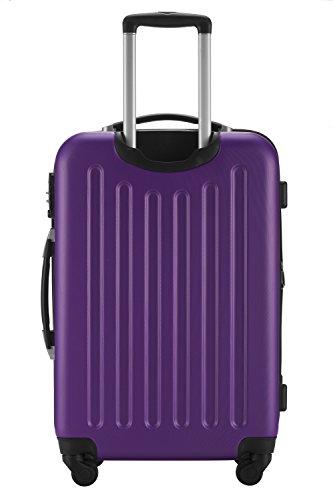 HAUPTSTADTKOFFER® Reisekoffer XL · Hartschalenkoffer · MATT ODER GLANZ + GEPÄCKGURT (MATT, Aubergine)