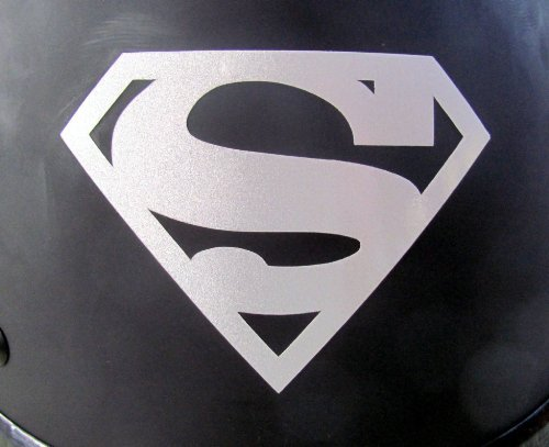 Reflective Superman Symbol -die cut vinyl decal for helmets, windows, cars, trucks, tool boxes, laptops, MacBook - virtually any hard, smooth -