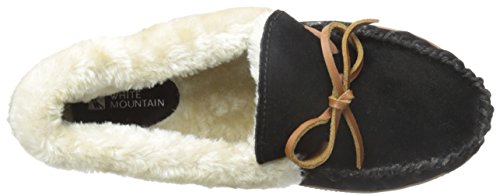 White Mountain Sleepover Wildleder Slipper Black Suede