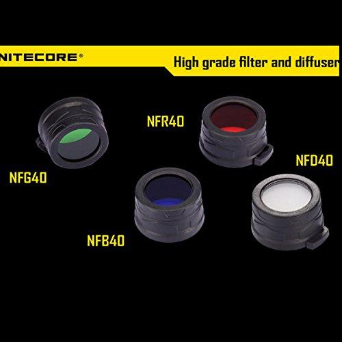 Nitecore 40mm Filter Diffuser Four Colors For EA4/MH25/P25 LightIN
