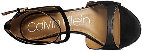 Nadeen In Tacco Nera Calvin Klein Pelle Camoscio Delle Sandalo Donne rnwq6rY7