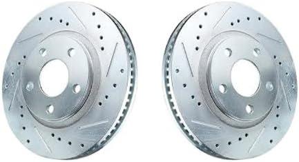 For Acura Integra Front Rear Black Drill Slot Brake Rotors+Ceramic Brake Pads