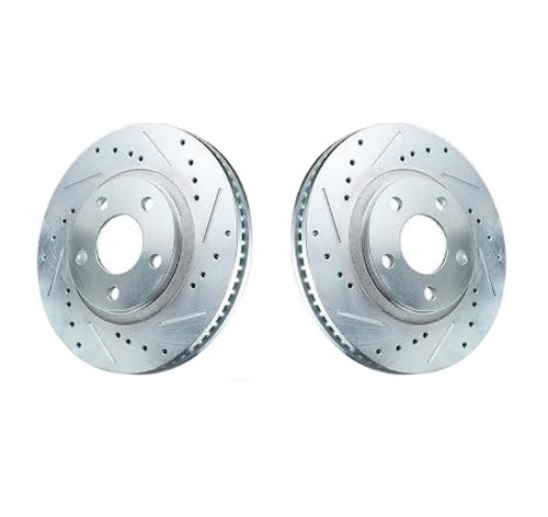 2004 - 2008 ACURA TL ( WILL NOT FIT TYPE-S WITH BREMBO FRONT CALIPERS ) FRONT CROSS DRILLED AND SLOTTED SPORT BRAKE ROTORS