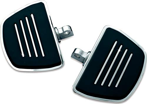 Kuryakyn 4392 Motorcycle Foot Control Component: Premium Mini Board Floorboards with Male Mount Adapters, Chrome, 1 Pair