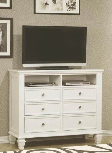 Chest White Tv (Coaster Home Furnishings Country Media Chest, White)