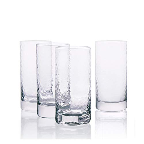 Kanwone Highball Glasses – 10 Ounce Heavy Base Lead-Free Drinking Glasses for Cocktails, mixed drinks, Juice, Water and…