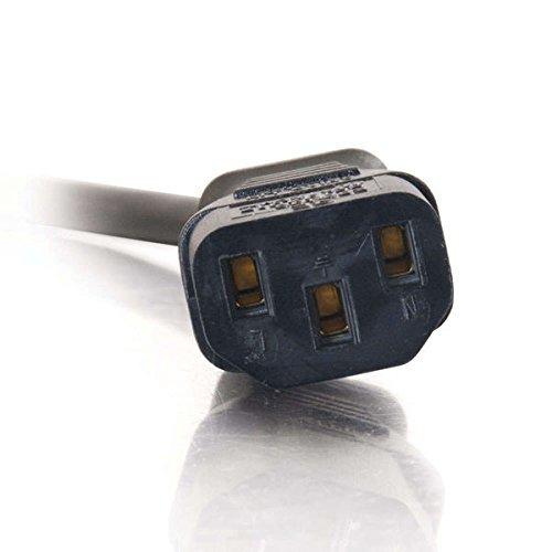 C2G 1.5ft 18 AWG Universal Flat Panel Power Cord (NEMA 5-15P to IEC320C13) by C2G (Image #4)