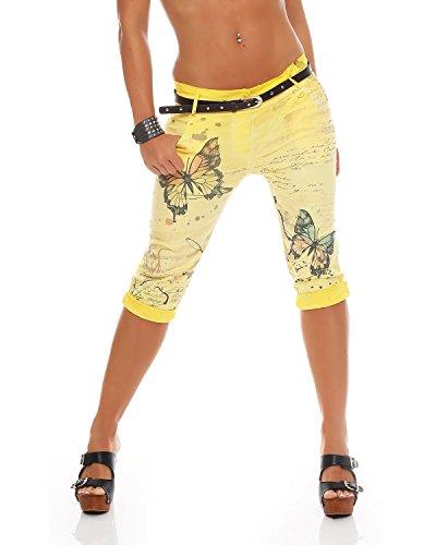 con mujer estampado Pantalones Pantalones Pantalones novio vaqueros estrellas baggy capri Pantalones Capri de Giallo para Capri ZARMEXX estampados Jegging's para E6vxqFOw