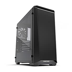 "Phanteks PH-EC416PTG_BW Eclipse P400 Steel ATX Mid Tower Case Black/White, ""Tempered Glass"" Edition Cases"