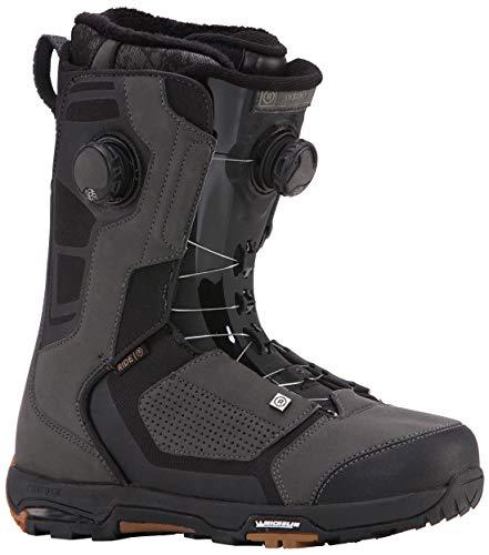 Snowboard Lace Ride Boots - Ride Insano Focus 2019 Snowboard Boot - Men's Black 10.5