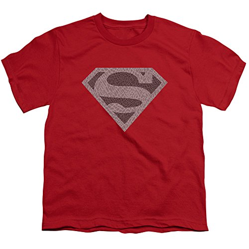 (Superman Iconic DC Comics Character Elephant Shield Symbol Boys Youth T-Shirt Red)