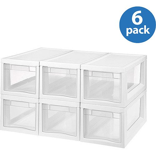 Sterilite Narrow Modular Storage Drawers, Set of