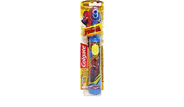 COLGATE MaxWhite-Cepillo de Dientes Infantil de Spiderman Con Batería, Motion: Amazon.es: Salud y cuidado personal