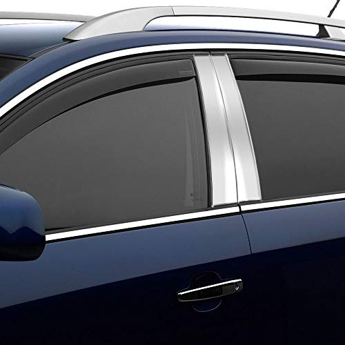 AUTOCARIMAGE Stainless Steel Pillar Posts (B Pillars) Covers for Cadillac XTS 2013 2014 2015 2016 2017 2018 2019-8 Pieces