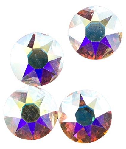 Swarovski - Create Your Style Flatback 8mm Crystal AB 3 packages of  4 Piece (12 Total Crystals) ()