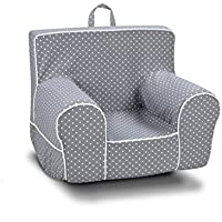 Kangaroo Trading Classic Grab-N-Go Rocker Mini Dot Storm with White Childrens Rocking Chairs