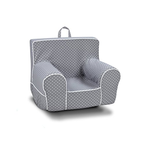 Kangaroo Trading Classic Grab-N-Go Rocker Mini Dot Storm with White Childrens Rocking Chairs by Kangaroo Trading