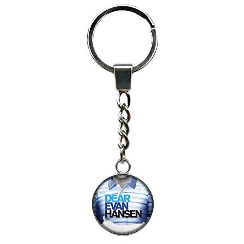 Dear Evan Hansen Keychain Key Ring Broadway Musicals Movies Cartoons Superhero Logo Theme Premium Quality Detailed Cosplay Jewelry Gift Series -