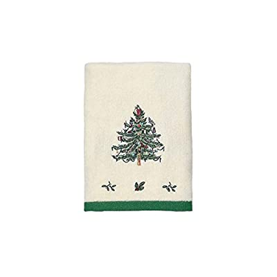 Spode Christmas Tree Hand Towel - Spode Christmas Tree motif 100% cotton exclusive of embellishment - bathroom-linens, bathroom, bath-towels - 41DrIfXQpKL. SS400  -