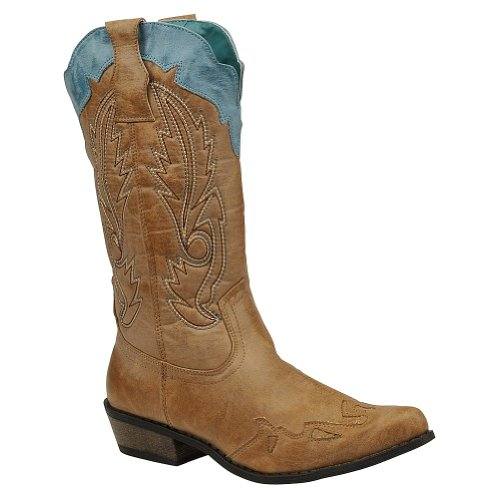 Coconuts by Matisse Women's Cimmaron Boot,Tan/Turquoise,8 M US