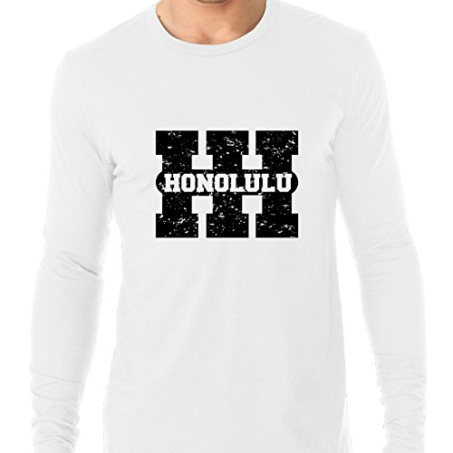 Honolulu, Hawaii Hi Classic City State Sign Men's Long Sleeve T-Shirt for $<!--$29.95-->