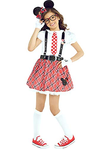 Different Minnie Mouse Costumes - HalloCostume Girls Minnie Mouse Nerd Costume,