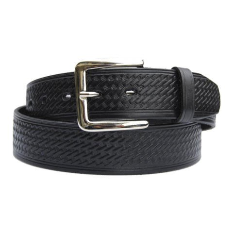 (1.5-inch Basketweave Garrison Belt - Rounded Buckle - 150207-36 - 36 inches)