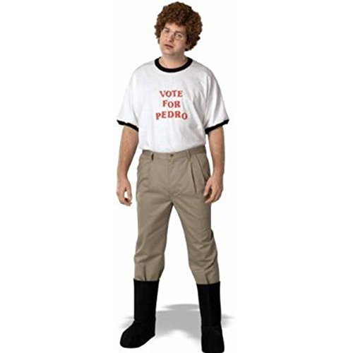 Napoleon Dynamite Complete Costume Kit: Adult Vote For Pedro T-Shirt, Accessory Kit and Moon Boots (Medium)