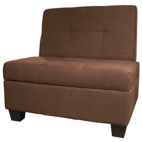Butler Microfiber Upholstered Tufted Padded Hinged Storage O