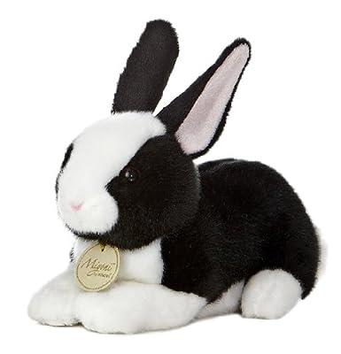 """Aurora World Miyoni Dutch Bunny Black and White 8"""" Plush Toy"""