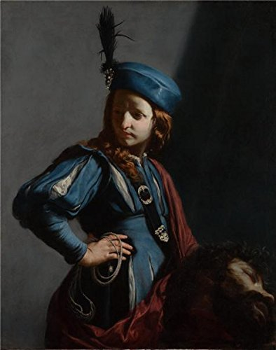 [The High Quality Polyster Canvas Of Oil Painting 'David With The Head Of Goliath,c. 1645-50 By Guido Cagnacci' ,size: 20x25 Inch / 51x64 Cm ,this Beautiful Art Decorative Prints On Canvas Is Fit For Home Theater Artwork And Home Gallery Art And] (Good White Trash Costume Ideas)