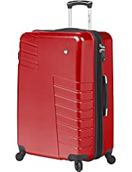 Mia Toro Mondavio Hardside 28 Inch Spinner Luggage, Red