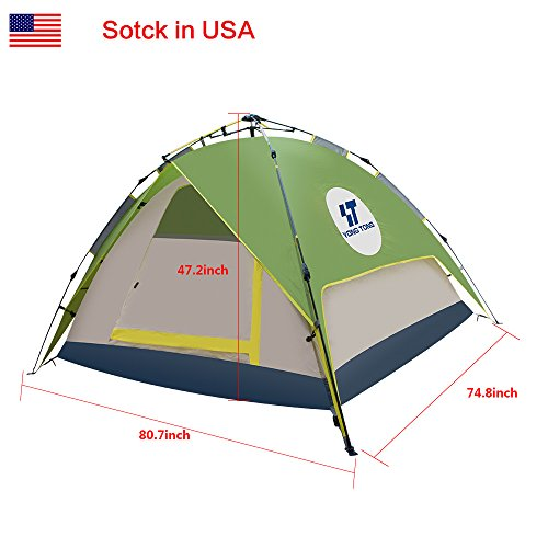 Yongtong-3-4-person-4-Season-Outdoor-Tents-  sc 1 st  Discount Tents Nova & Yongtong 3-4 person 4 Season Outdoor Tents Automatic Pop Up ...