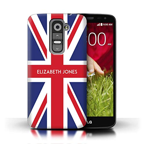 Personalized Custom National Nation Flag Case for LG G2 Mini/D620 / Great Britain/British Design/Initial/Name/Text DIY Cover (Phone For Cover Union Lg Jack G2)
