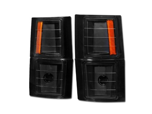 AutobotUSA BLK AMBER LENS SIGNAL PARKING CORNER LIGHTS LAMPS 94-00 CHEVY C10 C/K PICKUP/SUV