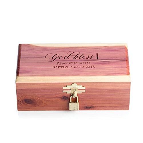 Lifetime Creations Personalized Baptism Keepsake Box - Custom Engraved Christening Keepsake Box